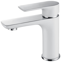 Royal Franklin Single Handle Faucet Chrome & White