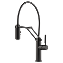 Brizo Solna® Single Handle Articulating Kitchen Faucet Matte Black