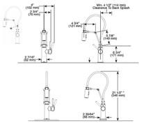 Brizo Solna® Single Handle Articulating Kitchen Faucet Matte Black