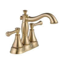 Delta Cassidy™ Two Handle Centerset Bathroom Faucet - Metal Pop-Up