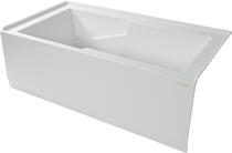 """Sherlic Quad 5 60"""" X 32"""" 2 Sided Skirted Bath Tub"""