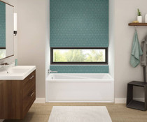 "Maax Exhibit 66"" x 36"" x 18"" Rectangular Bathtub"
