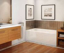 "Maax Rubix 60"" x 30"" x 19"" Rectangular Bathtub"