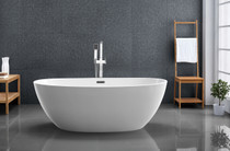 "Kelowna 59"" Freestanding Bath Tub Matte White"