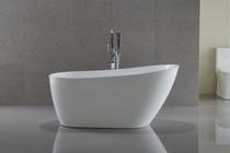"Havana 59"" Freestanding Bath Tub Matt White"