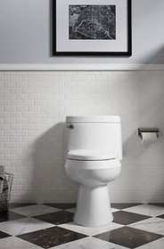 Kohler Cimarron™ Comfort Height™ One-piece elongated 1.28 gpf chair height toilet with Quiet-Close™ seat