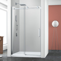 "Zitta Bellini Alcove Black Shower Door 48"" x 32"" with Base"