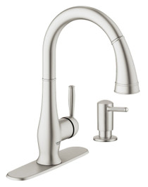 "Grohe Wexford Single-lever sink mixer 1/2"" and soap dispenser combo"