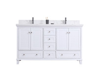 "Niagara 60"" Bathroom Vanity Double Sinks White"