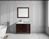 "Armada 40"" Right Hand Bathroom Vanity Espresso"