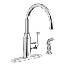 American Standard Portsmouth High Arc Kitchen Faucet with Side Spray