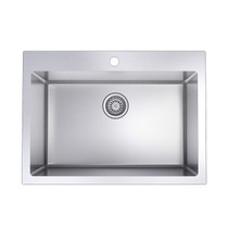 """Rubi Chardonnay Single Bowl Kitchen Sink with Rounded Corners, Drop-in 27 3/4"""" x 20 1/8"""" x 9"""""""