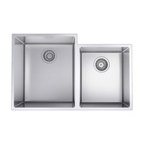 """Rubi Riesling Double Bowl Kitchen Sink with Rounded Corners, Undermount 31 1/4"""" x 20"""" x 9"""""""