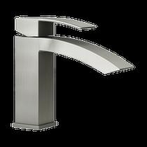 Rubi Fall Single Lever Washbasin Faucet No Drain Brushed Nickel