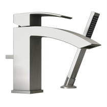 Rubi Fall Two-Piece Bathtub Faucet Brushed Nickel