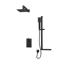"Rubi Kali 1/2"" Thermostatic Shower Kit Vertical Shower Arm Black"