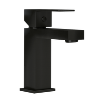 Rubi Quatro Single Lever Washbasin Faucet with Drain Black