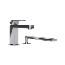 Rubi Quatro Two-Piece Bathtub Faucet Chrome