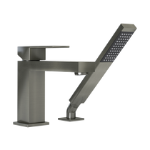 Rubi Quatro Two-Piece Bathtub Faucet Brushed Nickel