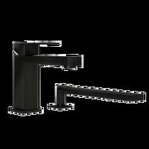 Rubi Quatro Two-Piece Bathtub Faucet Black