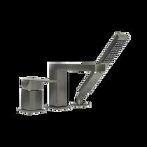 Rubi Quatro Three-Piece Bathtub Faucet Brushed Nickel
