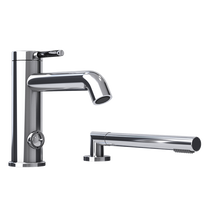 Rubi Vertigo C Two-Piece Bathtub Faucet Handle with Carbon Fiber Chrome/Black