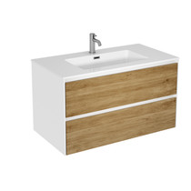 "Rubi Aria 35"" Washbasin Cabinet, Two Cabinets Oak"