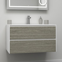 "Rubi Aria 35"" Washbasin Cabinet, Two Cabinets Wood"