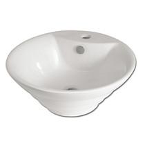 Rubi Lian Single Hole Countertop Washbasin White