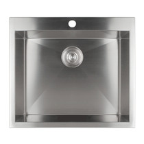 Rubi Drop-In Gamay Single Bowl Kitchen Sink with Square Corners