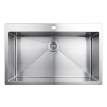 Rubi Muscat Drop-In Single Bowl Kitchen Sink with Rounded Corners