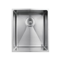"Rubi Merlot Undermount Single Bowl Kitchen Sink with Rounded Corners 14 1/2"" x 17"" x  8 5/8"""