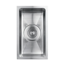 "Rubi Merlot Undermount Single Bowl Kitchen Sink with Rounded Corners 7 1/2"" x 13"" x 4 3/8"""