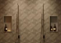 Rubi Lotus COZI Thermostatic Shower Column with Mist on Sliding Shower Bar, Anti-Limestone Hand Shower, Shower Head with Mist Chrome