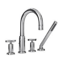 Rubi Alex Four-Piece Bathtub Faucet with Cross Handles Chrome