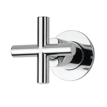 Rubi 3/4 Male Linear Stop Valve and Round Trim with Handle Chrome