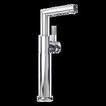 Rubi Billie Raised Tall Single Lever Washbasin Faucet with Drain Chrome