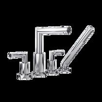 Rubi Billie Four-Piece Bathtub faucet with Hand Shower Chrome