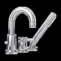 Rubi Dana Three-Piece Bathtub Faucet Chrome