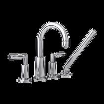 Rubi Dana Four-Piece Bathtub Faucet Chrome