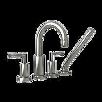 Rubi Dana Four-Piece Bathtub Faucet Brushed Nickel