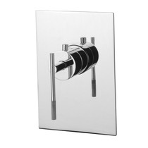 "Rubi Evita Built-in Rough 3/4"" Thermostatic Mixer and Square Trim with Handle"
