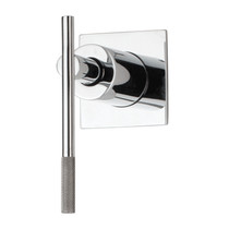 """Rubi Evita 3/4"""" Male Linear Stop Valve and Square Trim with Handle Chrome"""