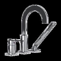 Rubi Gabriella Three-Piece Bathtub Faucet Chrome