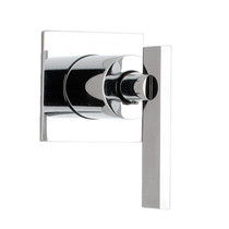 """Rubi Gabriella 3/4"""" x 1/2"""" Male Linear Stop Valve and Square Trim with Handle Chrome"""