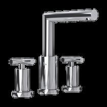 "Rubi Gael 8"" c.c. Washbasin Faucet with Cross Handles Chrome"