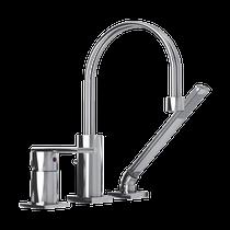 Rubi Hadria Three-Piece Bathtub Faucet Chrome