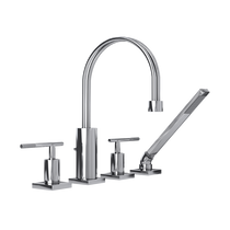 Rubi Hadria Four-Piece Bathtub Faucet Chrome