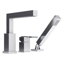 Rubi Jawa Three-Piece Bathtub Faucet Chrome