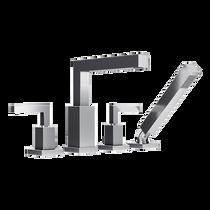 Rubi Jawa Four-Piece Bathtub Faucet Chrome